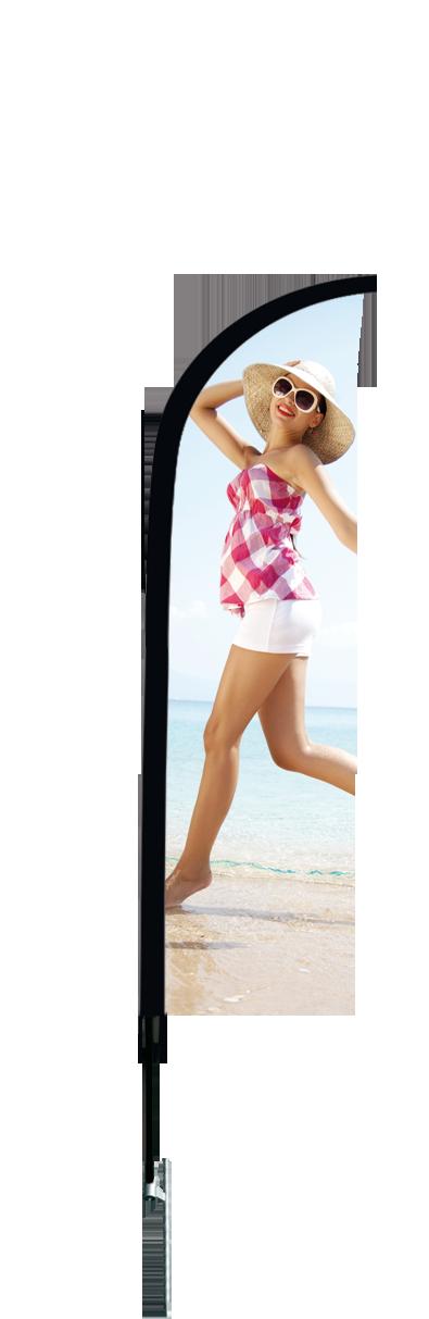 pied piquet pour beachflag
